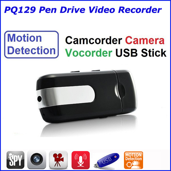 Mini USB dvr recorder hidden camera, U disk camera with motion detection PQ129