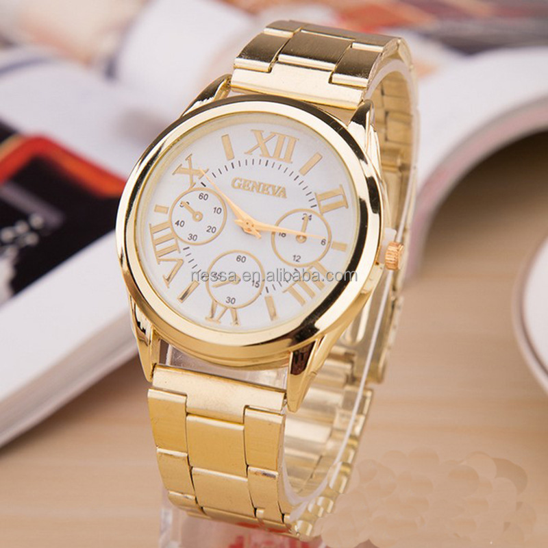 Fashion 24k gold watches quartz watch Wholesale NSA154A