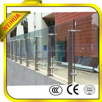 high quality clear deck railings tempered glass for buildings with CE/CCC/SGS/ISO