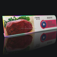 Hot sale PVC display card in guangzhou for Food grade plastic card
