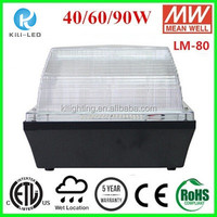 "9"" Square Vandalproof DLC ETL 40W warm 3000k canopy lighting fixtures"