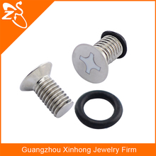 Screw spike stainless steel ear piercing plugs wholesale 316l stainless steel piercing jewelry