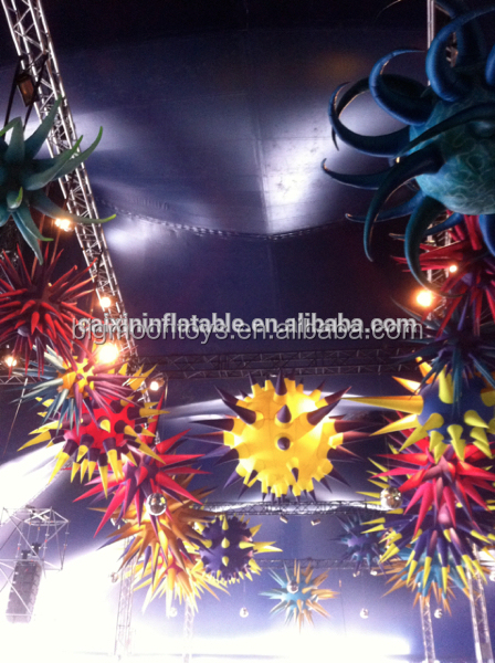 commercial cheap inflatable club decoration/inflatable lighting star for party /stage/event