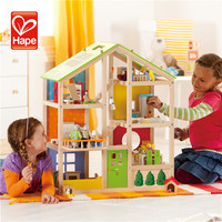 High quality cheap children educational preschool wooden toy doll house