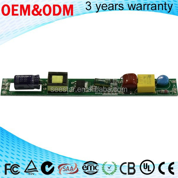 2015 hot ! china manufactory 5w 8w 9w 11w adjust current 100ma - 240ma 0-10v dimming led driver for t5 t8 led tube light