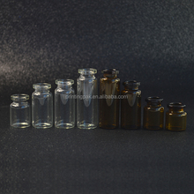 3ml 5ml 10ml 15ml Amber & Clear Bayonet Powder Penicillin Bottles Injection Ampoule Vials With Rubber Cap