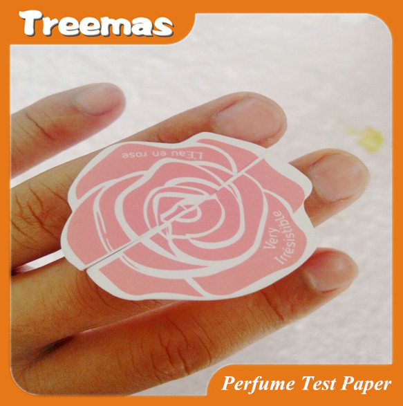 Fragrance test paper strip for cosmetic