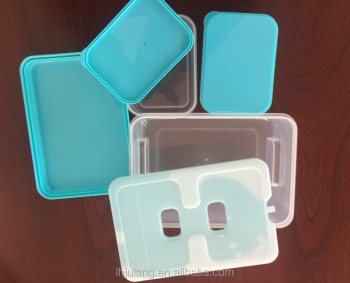 BPA FREE plastic lunch container with cooler pack / plastic lunch container with 4 parts