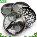 Alibaba express factory price hot sale colorful 4 part handle herb grinder