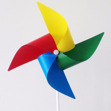 21cm multicolor windmill, plastic pinwheel toy