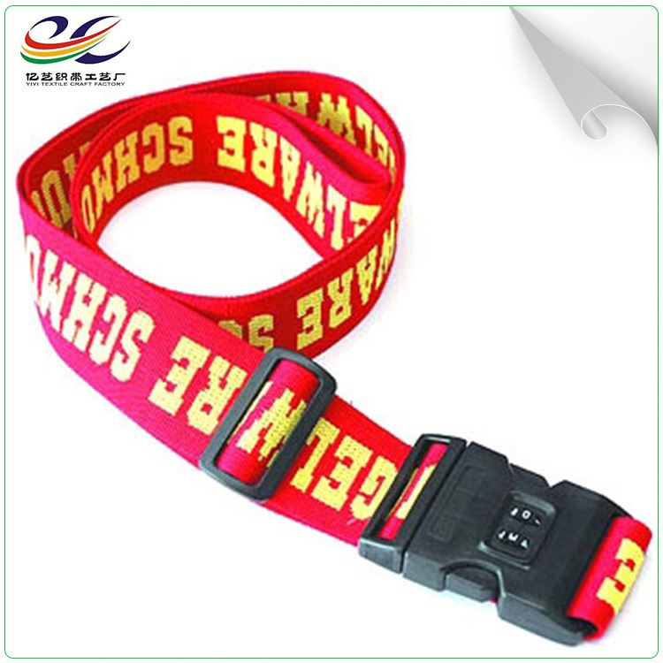 Custom adjustable luggage strap suit case belt with high quality