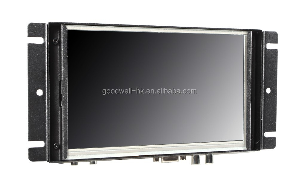 Made in China 800x 480 Metal Frame 7 Inch Touch Open Frame Monitor with AV/VGA/HDMI Input