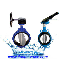 butterfly valve supplier gearbox groved end butterfly valve