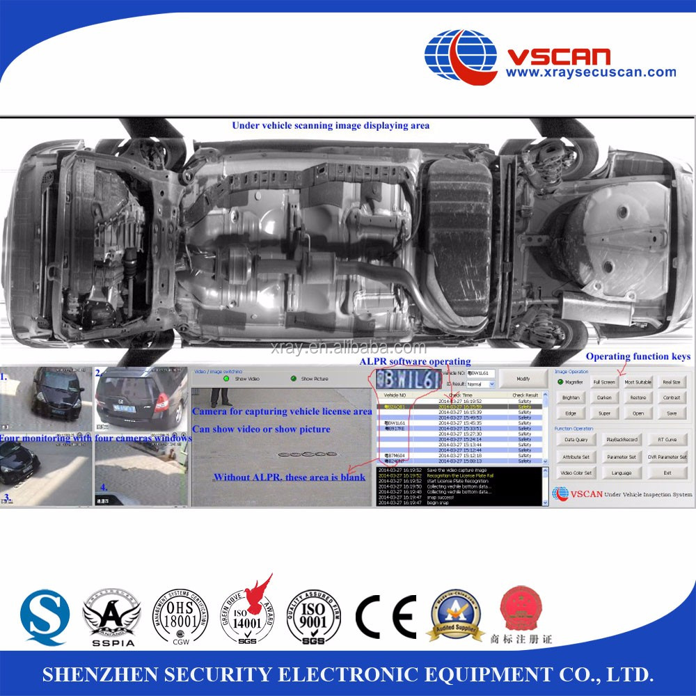 VSCAN High safety anti-terrorism UVSS under vehicle surveillance scanning inspection system