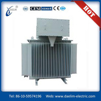 Oil immersed transform,er 11 33KVA 100%copper with cable box
