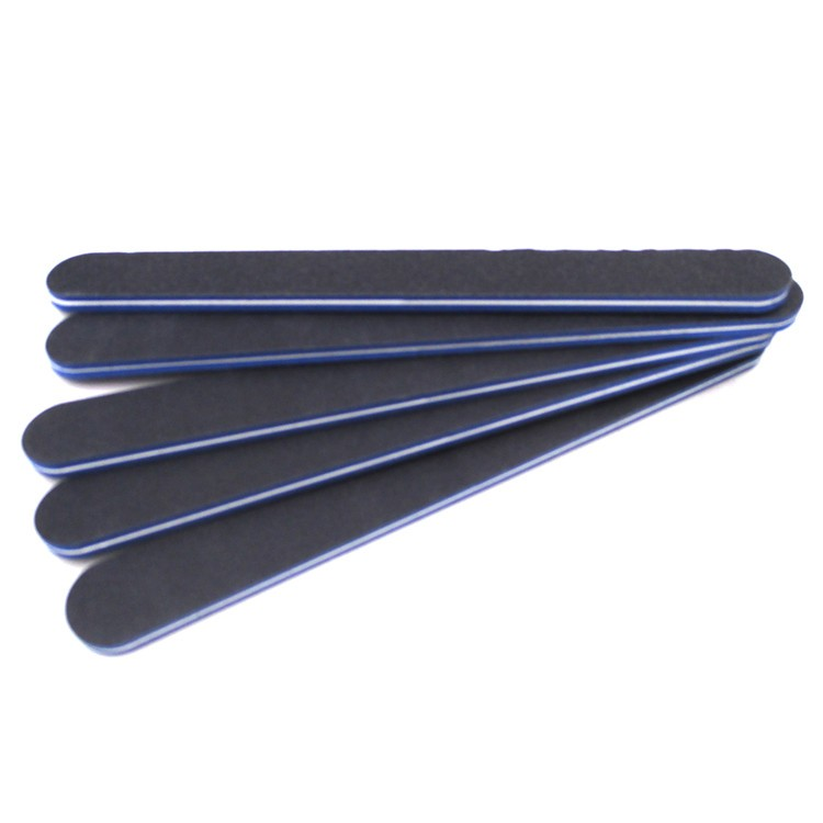 black sandpaper nail file manufacturer double nail file 80/100/180/240