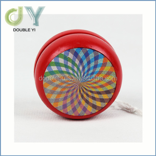 High quality children Fashion Wooden yoyos with colorful printing