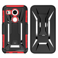 Nexus 5X Case, X Armor Belt Clip Holster Hybrid Stand Hard Back Cover for LG Google Nexus 5X (Nexus 5 2015) Phone Cover Cases