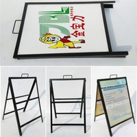 brief design metal A Frame Sign with PVC advertisement board