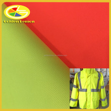 300d polyester oxford fabric with white pigment coating for high visibility warning clothing