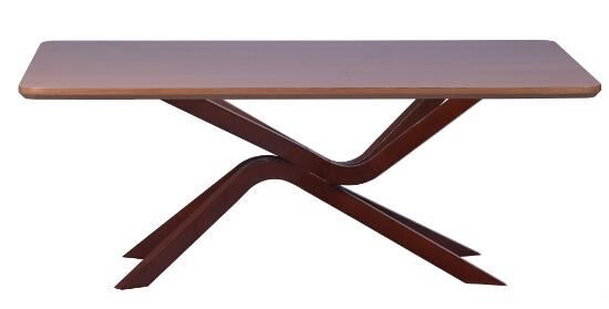 classic dining wooden table with glass top