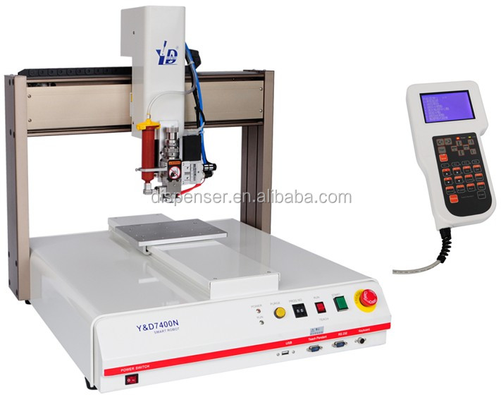Dongguan automatic adhesive dispensing machine match with AB valve for two liquid glue