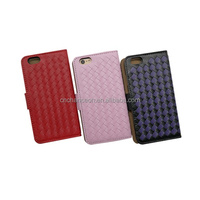 PU leather mobile phone case with braid pattern for iphone 5/5s CO-LTC-1016