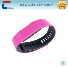 Event Management RFID adjustable music silicone rubber chip wristband