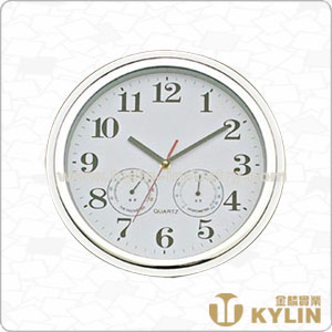 plastic wall clock with hygrometer and thermometer