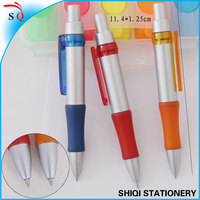 personalized Silver spray barrel extendable plastic ballpen
