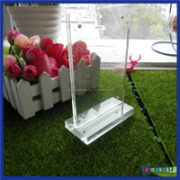 High quality customized size for acrylic memu holder / acrylic double side paper insert sign holder wholesale