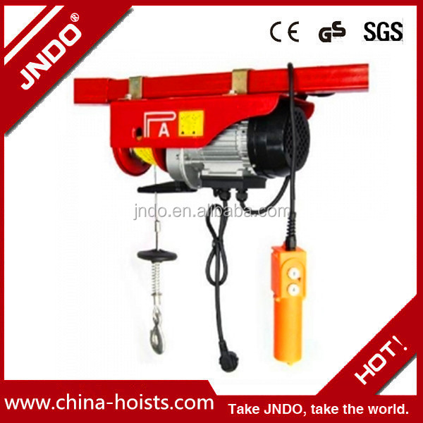 High quality PA mini wire rope electric hoist trolley