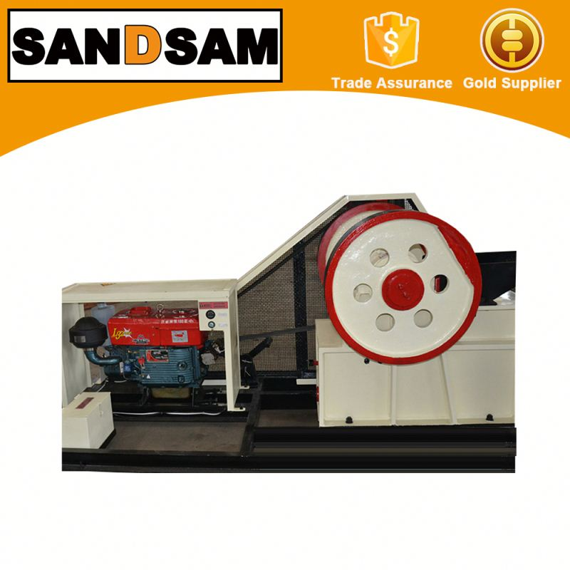 Diesel engine driven small portable jaw stone crusher with cheap price