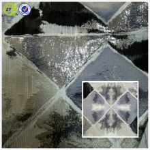metallic jacquard fabric with abstract geometric designs for coat