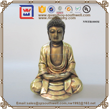 Various Large Stone Sitting Budda Statue For Sale Poly Resin Buddha With T-Lite Holder