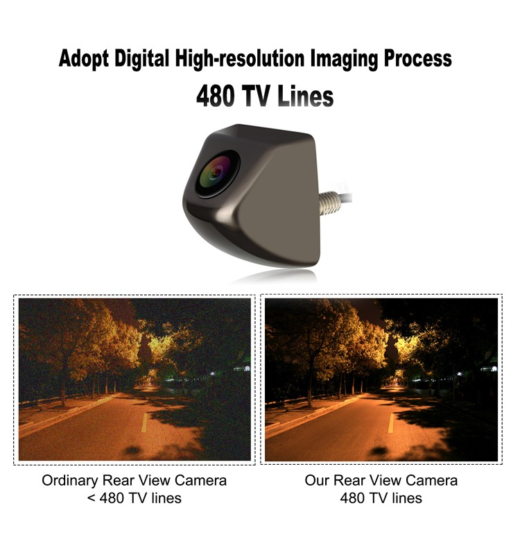 Clear night vision car rear view camera
