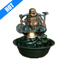 laughing buddha fountain with Spinning Ball/LED Light