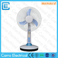 Energy saving AC DC double use 16inch solar battery fan battery operated desktop fan
