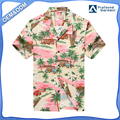 Hawaii Hangover Men's Hawaiian Shirt Aloha Shirt PlumeriaPalm Mini Surfboards Pink