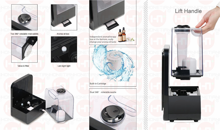 2018 NEW HTJ-2119D 4.5L LCD Display Hybrid Ultrasonic Humidifier