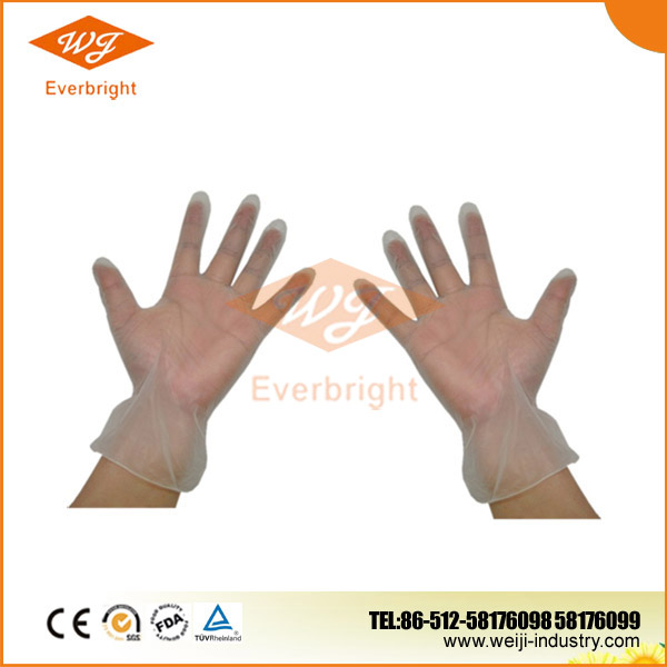 Medical Household Disposable Clear Vinyl Cleaning Gloves Factory Wholesale