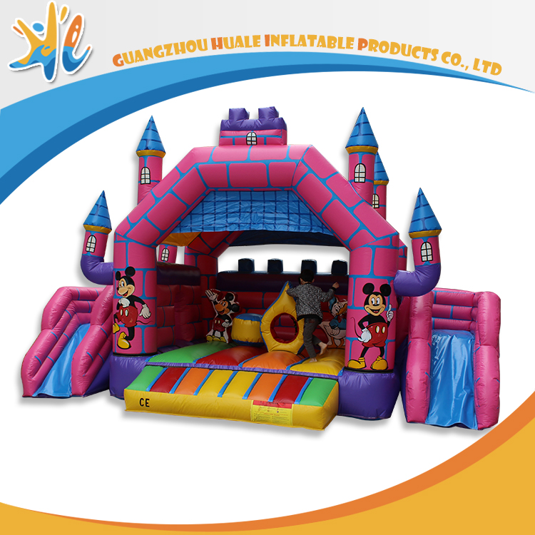 Popular Jumps Inflatable Castle Mickey Mouse With Slide