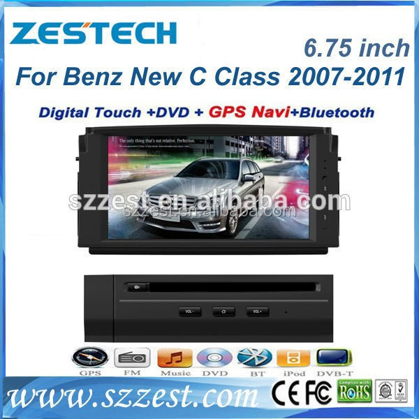 ZESTECH DISCOUNT Car dvd gps for Benz C Class W204 (2008-2010) with GPS BT DVD RDS CANBUS 3G RADIO TUNER