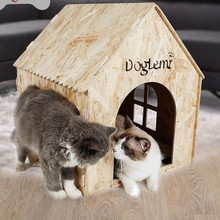 New European pine four seasons kennel indoor and outdoor cat&dog pet house