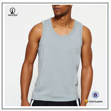 Mens stringer with hood cotton rayon spandex blend bodybuilding custom slim fit tank top