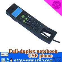 Voip for USB handset with Blue Backlight Dot Matrix LCD Model 111+ noise cancelling for Computer support skype