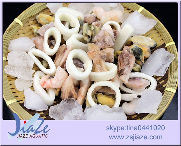 Frozen mixed seafood