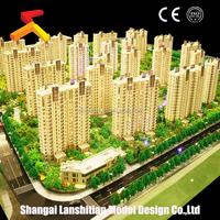 urban house model, building construction, miniature architectural scale models of famous building