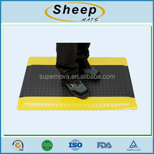 Rubber floor anti fatigue mat