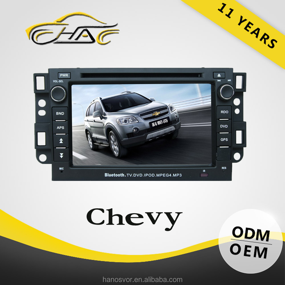 OEM ODM 7 inch 2 Din Car DVD Player With GPS Captiva Support Rearview Camera